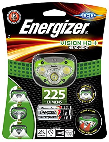 Energizer Vision HD+ Headlight with 3 x AAA Batteries Included