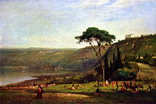Das Museum Outlet-Albanersee by George Inness-Leinwanddruck Online kaufen (76,2x 101,6cm)