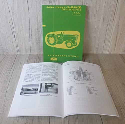 Preisvergleich Produktbild BETRIEBSANLEITUNG für John Deere-Lanz 500