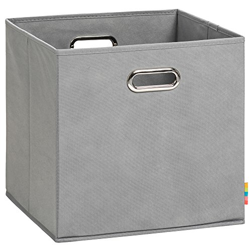 (H&S) Aufbewahrungsbox LEA - Faltbox - 33x33x33 cm - (Grau) (Regal, Aufbewahrungsboxen)