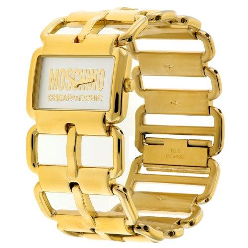 Moschino - MW0036 - Montre Femme - Quartz Analogique - Cadran Beige - Bracelet Métal Doré