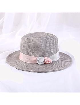 LVLIDAN Sombrero para el sol del verano Dama SolAnti-sunshinestrawhat Retrostyle gris