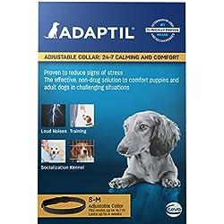 Adaptil - Collar ajustable calmante con feromonas para perros pequeños estresados o para entrenar cachorros - Tamaño máximo del cuello: 37,3 cm.