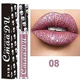 Weant Rouge à Lèvres, Brillant Longue Durée Tenue Liquide Brillant à Lèvres Waterproof Shimmer Lip Gloss Classique...