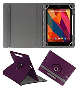 KOKO ROTATING 360° LEATHER FLIP CASE FOR PiPO W7 TABLET STAND COVER HOLDER PURPLE