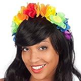 Diademe Serre tete Hawai vahine - Fleurs en tissu - Multicolore - 088
