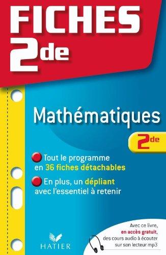 Fiches Bac mathématiques 2de