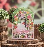VStoy 3D Braut Bräutigam Design Grüne Farbe Laser Schnitt Hochzeit Einladungen Karten Bridal Shower Einladungen Grußkarten (20 Stück)