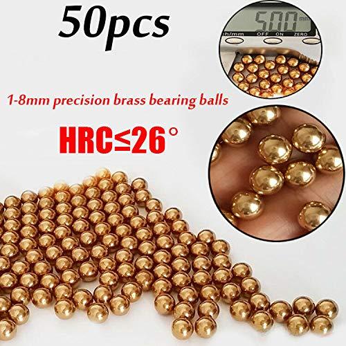FidgetGear Kugellager, 50 x Eectrie-Instrument Präzisions-Kugellager Rolling Beads 1-8 mm, 4.763mm
