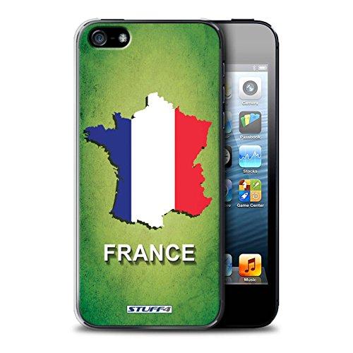 Gedruckt Schutzkoffer Schutzhüllen / Hülle für Apple iPhone 5/5S / Schottland/Scottish Muster / Flagge Land Kollektion Frankreich/Französisch