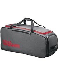 Wilson Traveler Wheeled Coach Duffel Gyrd, Mochila Unisex Adulto, Gris (Grey/Red
