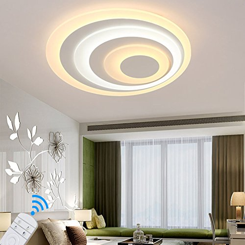 Lower Price with Nordic Led Ceiling Chandelier Lighting Brown Fashional Super Thin Modern For Living Room Circle Rings Led For Indoor Lighting Possessing Chinese Flavors Lights & Lighting