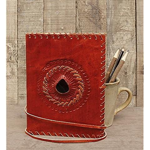 Store Indya, Diario vera pelle con cotone abbozzo di carta Note Book Sketchbook Diario personale segreto ufficiale