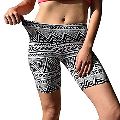 (LEEDY  Sports Leggings Yoga Hose Drucken Knielange Hose Soft Hot Pants Stretch Skinny Body FIit Pants Sports Shorts für Damen)