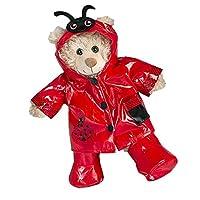 """Ladybug Raincoat Teddy Bear Outfit (8"""")"""