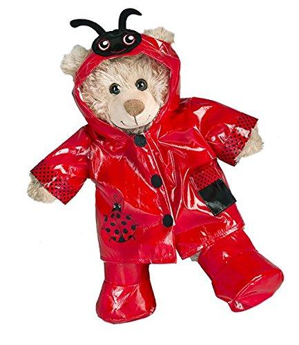 (Marienkäfer Regenmantel mit Stiefel Teddybär Outfit (40,6cm))