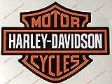 Adesivi Compulsivi Lot de 2 stickers, logo Harley Davidson Pour réservoir, casque et surfaces lisses.