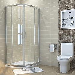 ELEGANT 900 x 900 mm Quadrant Shower Enclosure Cubicle Sliding Glass Door