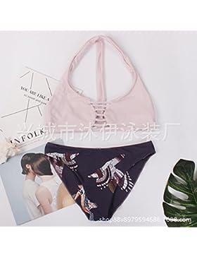 Presidente split _ en traje de baño moderno y cómodo bikini, bañador, dividir el sello digital, la imagen ,S