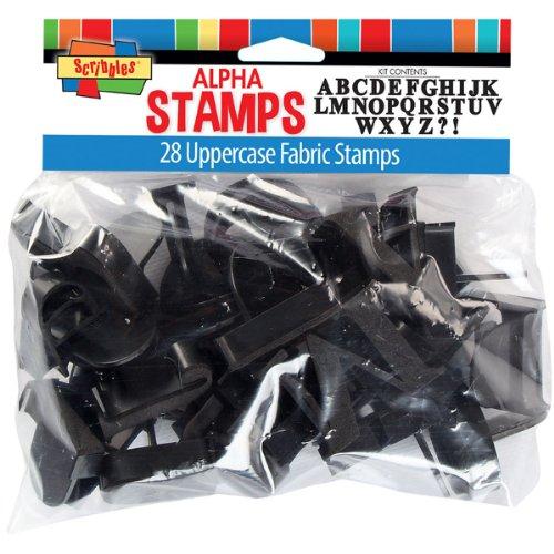 I Love To Create-Timbri di gomma con lettere dell'alfabeto maiuscole, Kit 28 kg-