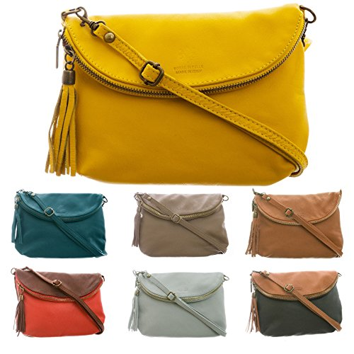 Big Handbag Shop - Borsa a tracolla donna (Dark Tan (BH341))