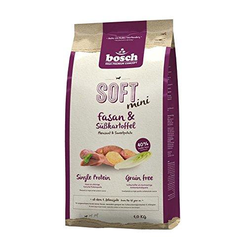 bosch HPC SOFT Mini Fasan & Süßkartoffel | halbfeuchtes Hundefutter für ausgewachsene Hunde kleiner Rassen | Single Protein | Grain Free, 1 x 1 kg