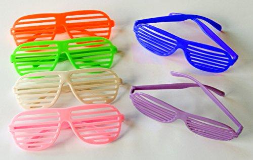 12 x Atzenbrille Partybrille Jalousiebrille - Verschiedene Farben