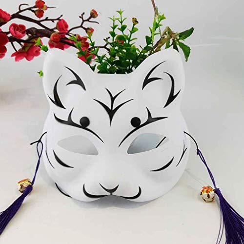 AND Japanische Stil alte Fee Katze Gesicht Han Kleid Facebook Fuchs Halbgesicht Maske Cos und Wind Halloween Requisiten (Halloween Speichern Masken Von)