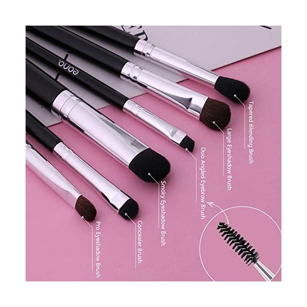 Eono by Amazon – Pinceles de maquillaje para ojos 6 piezas de pinceles para sombra de ojos Pinceles de mezcla Pincel de delineador de ojos Pinceles de maquillaje para ojos