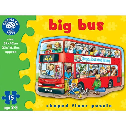Orchard Toys Big Bus Boden Puzzle 2 +