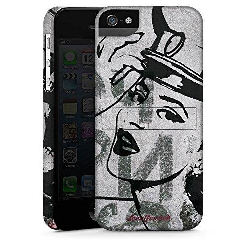 Apple iPhone X Silikon Hülle Case Schutzhülle Frau Zeichnung Fashion Mode Premium Case StandUp