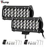#10: Thump 24 LED Heavy Duty CREE LED Fog Light / Work Light Bar Spot Beam Off Road Driving Lamp Universal Fitting for All Bikes and Cars (72W, Pack Of 2)