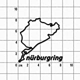 Aufkleber Nürburgring 8cm, schwarz