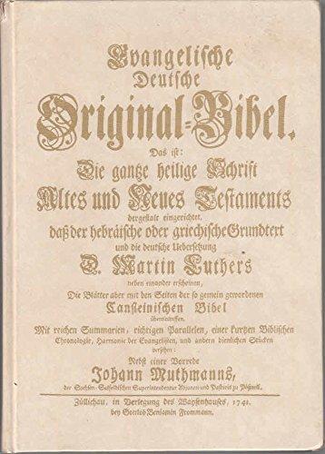 Evangelische Deutsche Original-Bibel 1741 (Züllichau). Band II