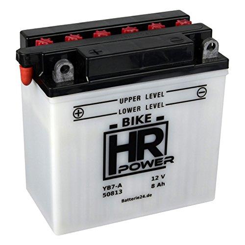 Motorrad Batterie Starterbatterie 12V 8Ah YB7-A 50813