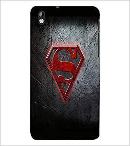 PrintDhaba Superman Logo D-2012 Back Case Cover for HTC DESIRE 816 (Multi-Coloured)