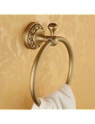 Anillo de toalla Anillo de toalla de cobre de estilo europeo tallado Toalla de barra de toalla