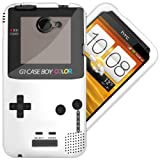 "HTC One X / X+ X Plus Hülle TPU / Gel / Silikon Case Cover - ""Retro Gameboy"" Schutzhülle für HTC One X Weiß"