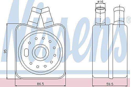 Nissens 90608 Ölkühler, Motoröl (Audi ölkühler)