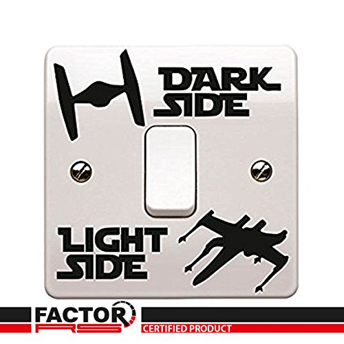 Star Wars Temático Lazo Combatiente y - X wing Oscuro /Lado De La Luz Adhesivo Pegatina De Vinilo Dormitorio Infantil Lightswitch Pared