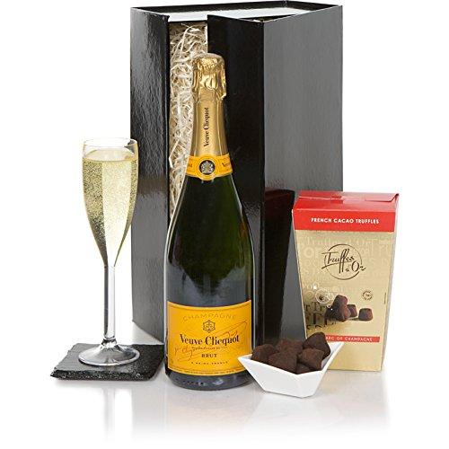 Veuve Clicquot y set de trufas de regalo - El regalo definitivo de champán de lujo para Navidad - Las cestas de champán perfectas para esta Navidad