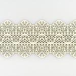 Coximus gebrauchsfertige essbare Spitze für filigrane Spitzen-Deko von Torten | 38 x 7,5 cm fertige Zucker-Spitze | Farbe: Perlmutt | hochwertiges elastisches Icing fertig zum Gebrauch | Sweet Lace
