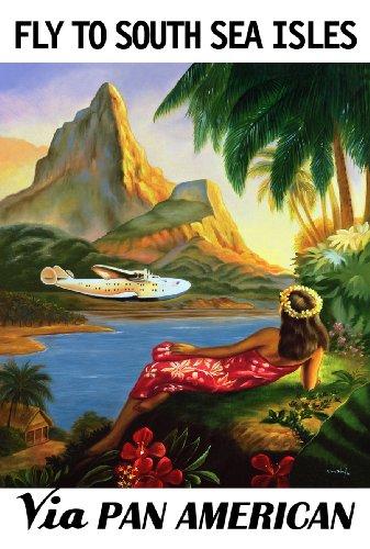 south-seas-sacco-da-viaggio-stile-vintage-con-pan-am-airways-cartolina-illustrata-formato-a3-250-g-m