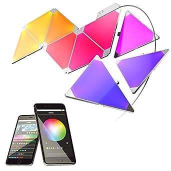 nanoleaf Aurora - 9x Modulare Smarte LED - Lichtpanels mit App Steuerung [Erweiterbar | 16 Millionen Farben | Alexa kompatibel | Plug and Play | iOS (Apple Home Kit kompatibel) & Android]