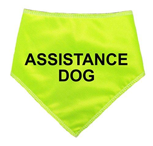 """Spoilt Rotten Pets (S4 'ASSISTENZHUND' Hi Viz Reflektierende–Alert Nachricht Achtung Hund Bandana (Gr. 4Extra große Hunde–passend 58,4cm 27""""Hals, Hilfe Hund)"""