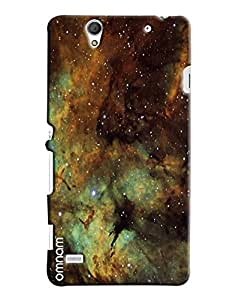 Omnam Galaxy Effect Printed Designer Back Cover Case For Sony Xperia C4