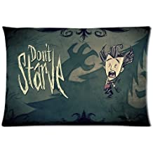 Don't Starve Teaser Decorative Pillowcases Cover Pattern Design For Enthusiastic Game Player Custom Zippered Pillow Cases Standard Size Inch 20x36 (Twin sides)