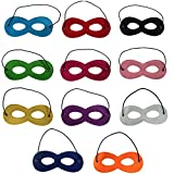 11pcs Masques de Super-Héros,Masque de Feutre Masques,Masques de Partie Demi-Masques Pour votre mascarade, fête d'anniversaire, Noël, Halloween, Dress-up, Multicolor