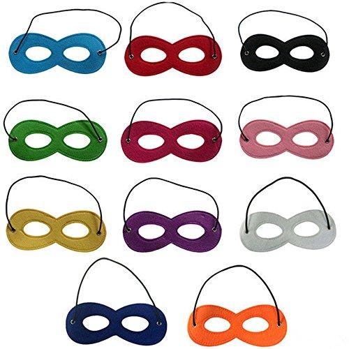 11Stück Superhero Masken,Filz Masken Augen Masken,Für Ihre Maskerade, Geburtstagsfeier, Weihnachten, Halloween, Dress-up,Mehrfarbig (Set Lila Dress Up)
