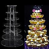 AllRight 7 Etagen Rund Tortenständer Acryl Kuchenständer Muffinständer für Hochzeitstorte Hochzeit Geburtstag (7 Etagen)